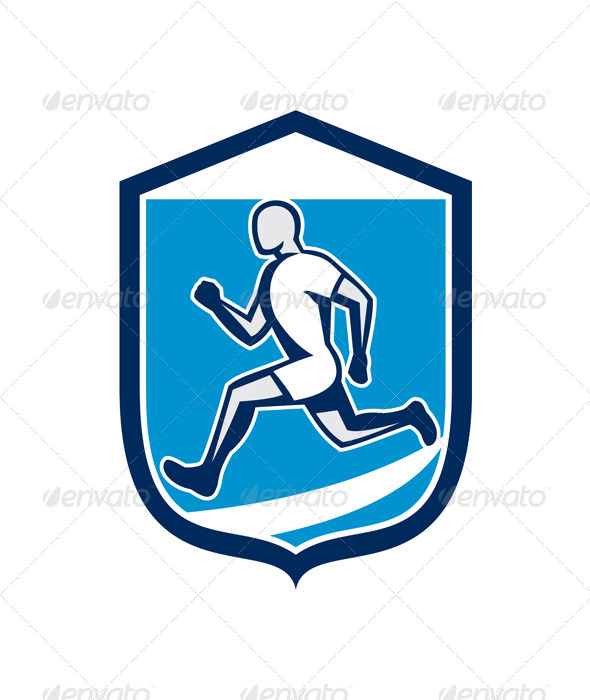 GraphicRiver Sprinter Running Shield 8245716