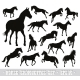 Vector Horses Set - GraphicRiver Item for Sale