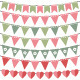 Pink and Green Bunting Set - GraphicRiver Item for Sale