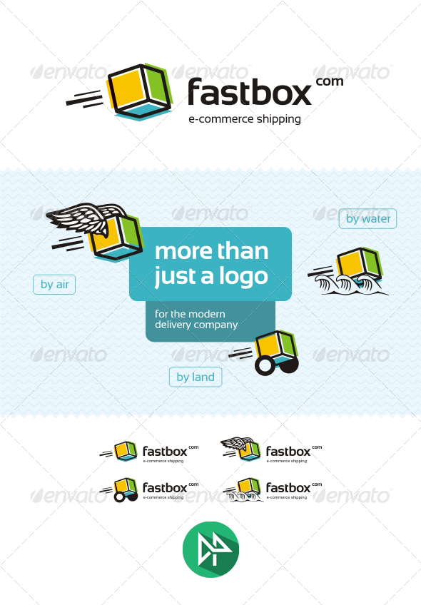 GraphicRiver Fastbox Logo Template 8245976
