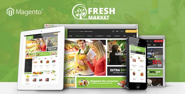 ThemeForest Ves Freshmarket Responsive Magento Theme 8246279