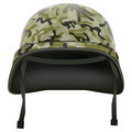 Military helmet with camo pattern. Isolated on white background. Bitmap copy. - PhotoDune Item for Sale