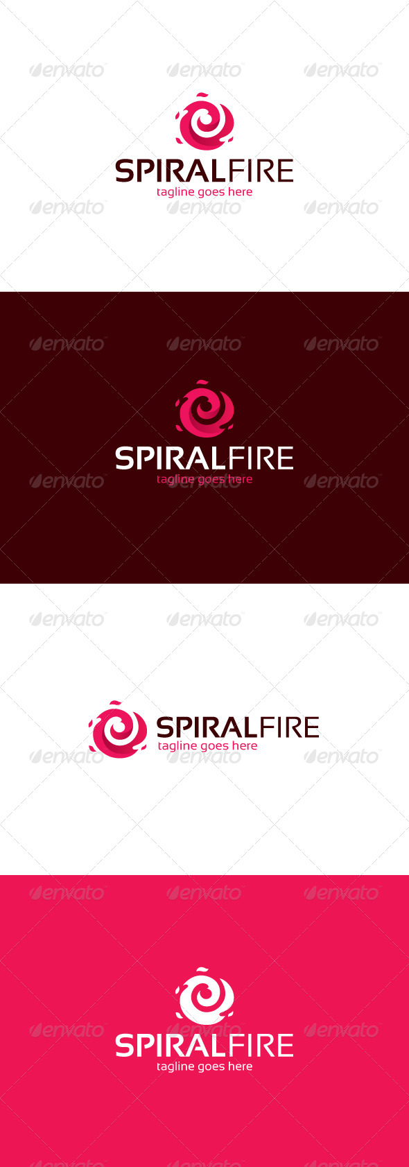 GraphicRiver Spiral Fire Logo 8246305