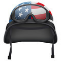 Military American helmet and goggles. Isolated on white background. Bitmap copy. - PhotoDune Item for Sale
