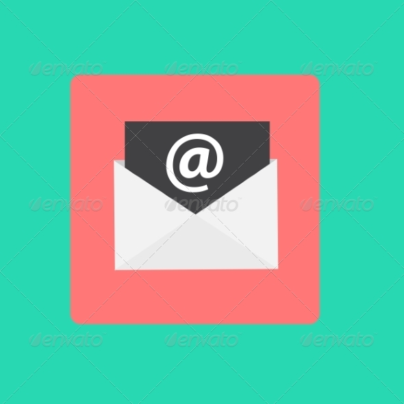 GraphicRiver Inbox Mail Flat Concept Vector Illustration 8247070