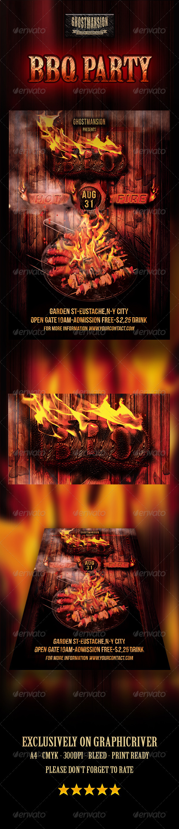 GraphicRiver BBQ Party Flyer Template 8247082