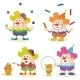 Cartoon Circus Clowns Set - GraphicRiver Item for Sale