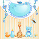 Baby Shower Card with Toys. - GraphicRiver Item for Sale