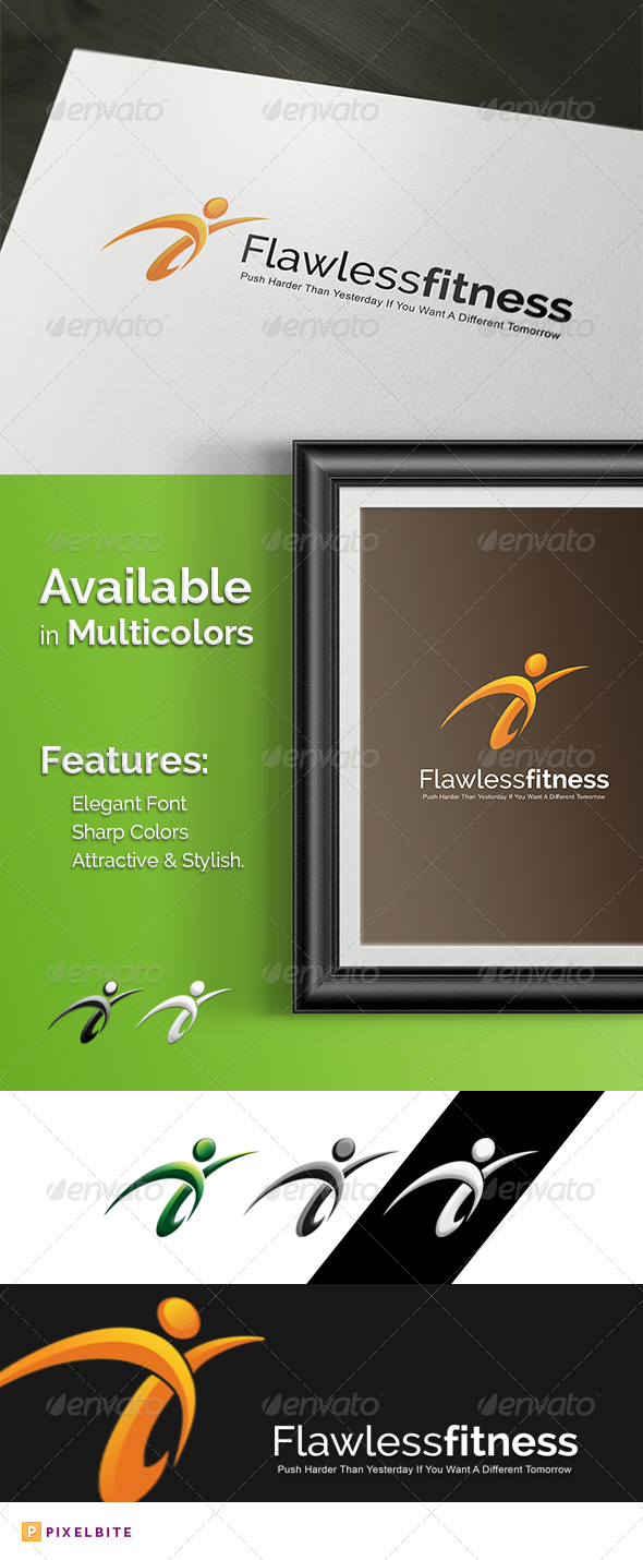 GraphicRiver Flawless Fitness Logo Template 8247372