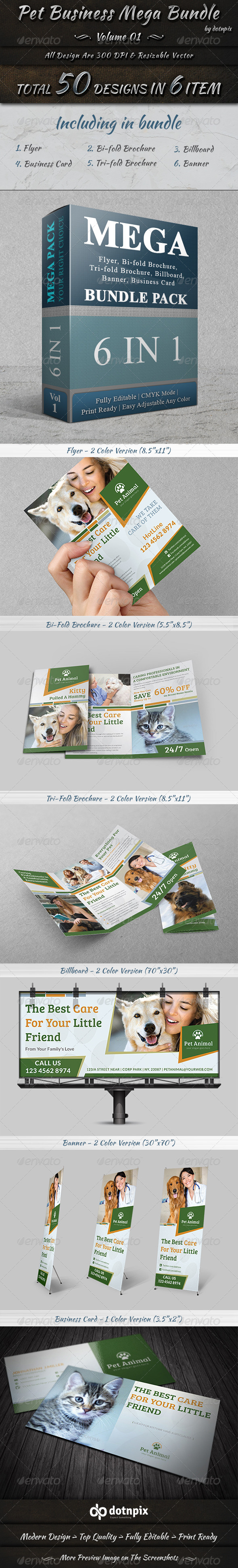 GraphicRiver Pet Business Mega Bundle 8247382