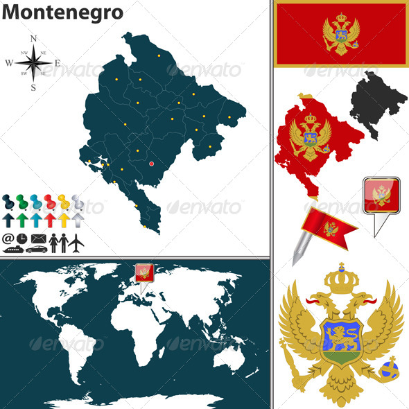 GraphicRiver Map of Montenegro 8247397