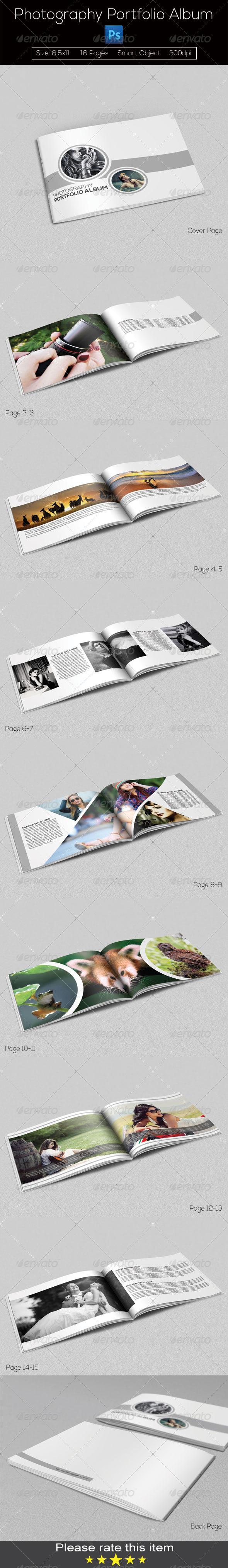 GraphicRiver Photography Portfolio Album 8247499