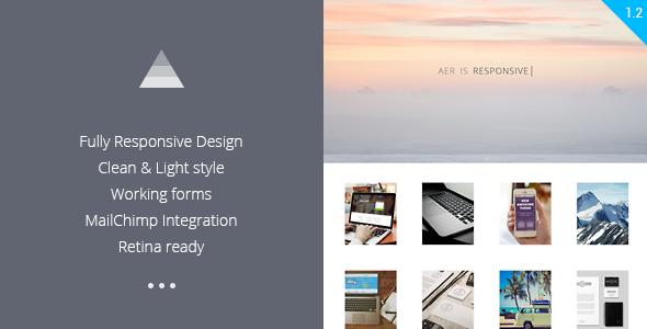 Aer - Clean HTML5 Template - Portfolio Creative