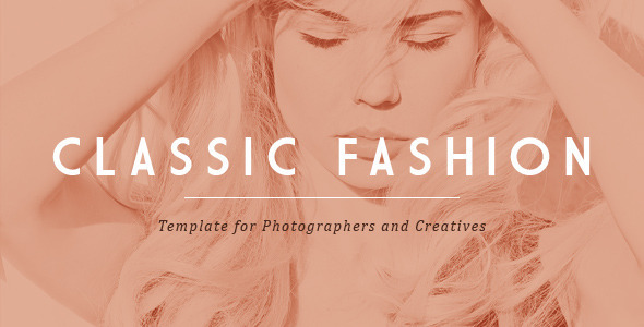 Classic Fashion Template for Photographers