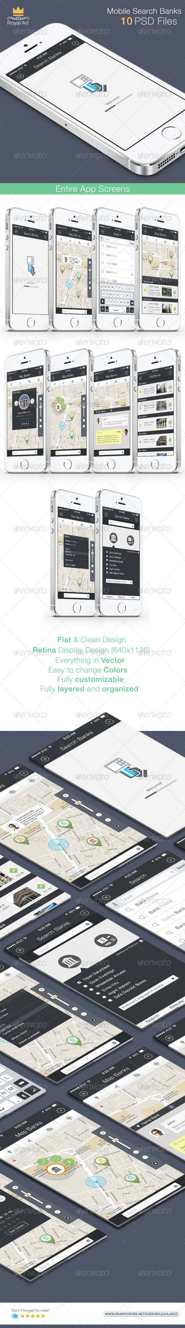 GraphicRiver Search Banks Mobile App 8247098