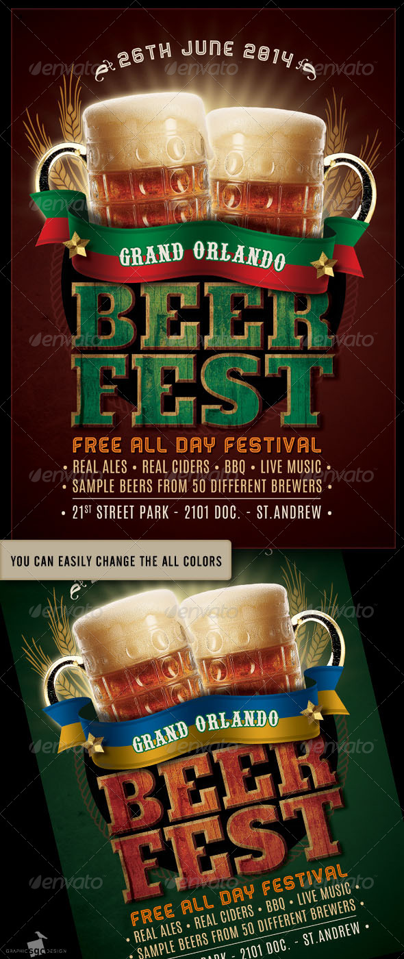 Beer Fest Flyer - Miscellaneous Events