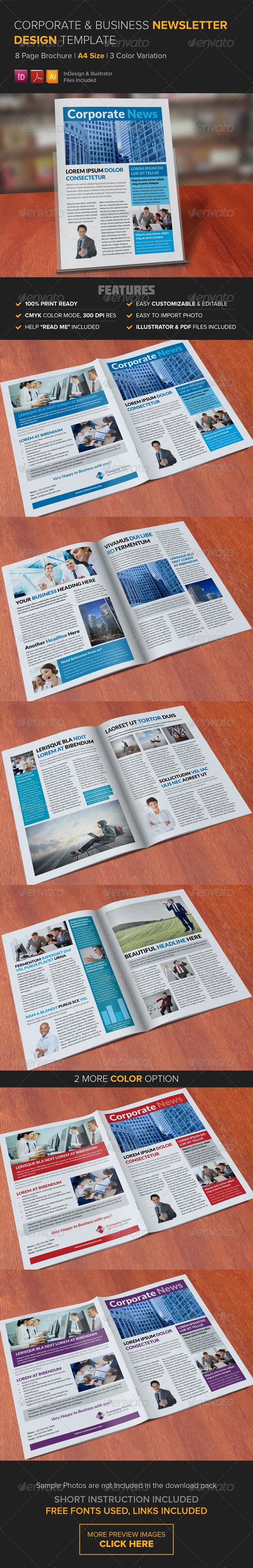 GraphicRiver Corporate Multipurpose Newsletter Template 8248511