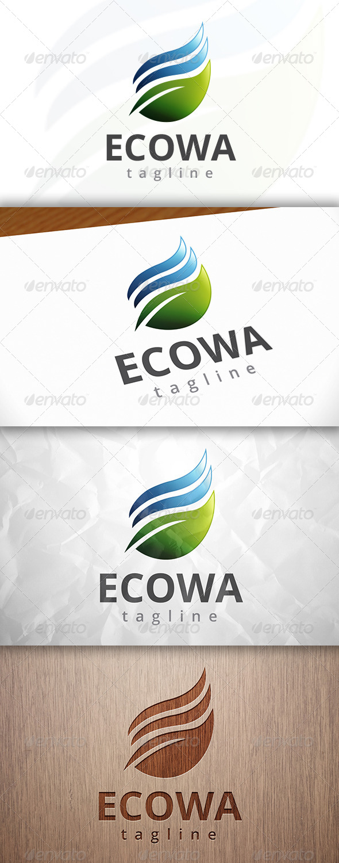 GraphicRiver Eco Water Logo 8249094