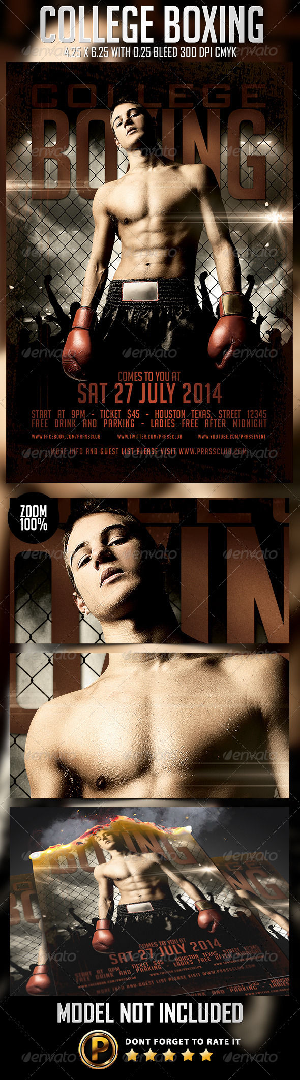 GraphicRiver College Boxing Flyer Template 8249133
