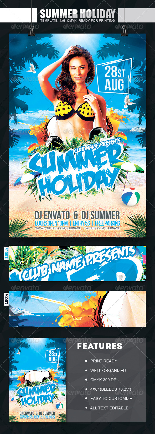 GraphicRiver Summer Holiday Flyer 8249189