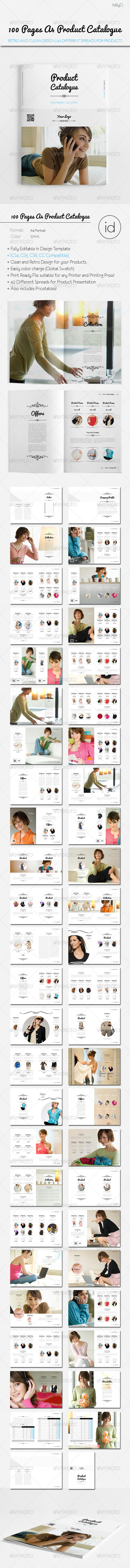 100 Pages A4 Product Catalogue Template
