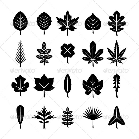 GraphicRiver Set Icons of Leaf 8249554
