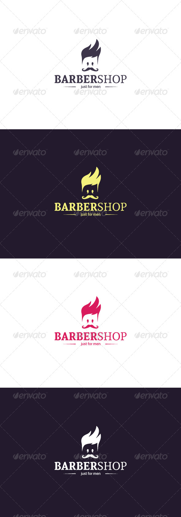 GraphicRiver Barber Shop Logo 8249811