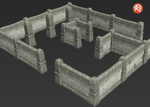 Low Poly Dungeon Wall