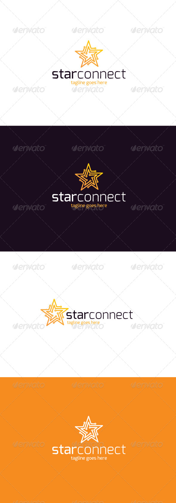 GraphicRiver Star Connect Logo 8250073
