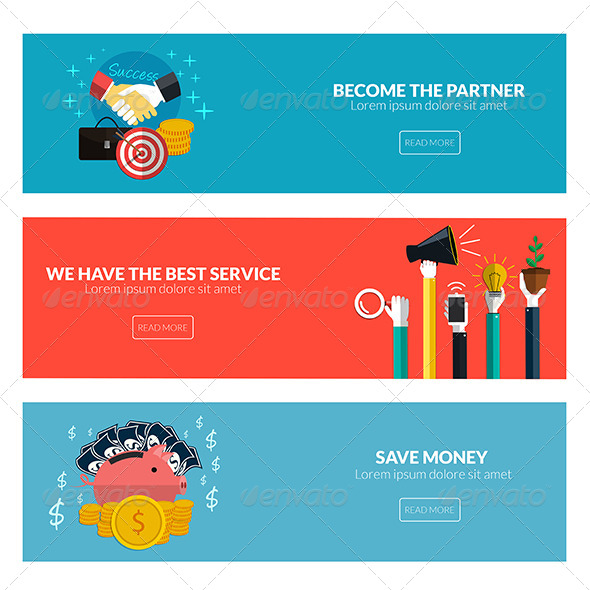 GraphicRiver Flat Designed Banners 8250228
