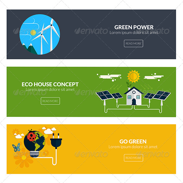 GraphicRiver Flat Designed Banners 8250239