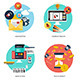 Flat Icons Concept - GraphicRiver Item for Sale