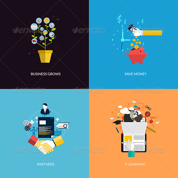 GraphicRiver Icons for Business Grows 8250249