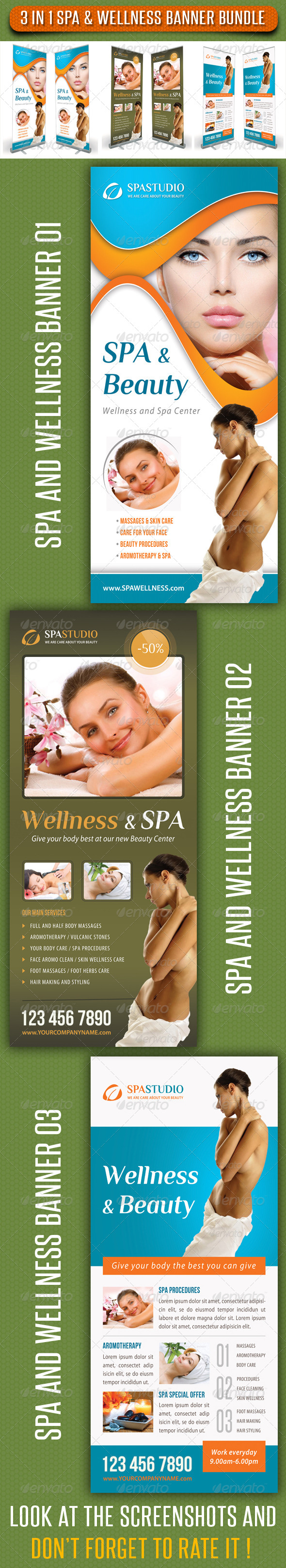 GraphicRiver 3 in 1 Spa Wellness Banner Bundle 07 8250287