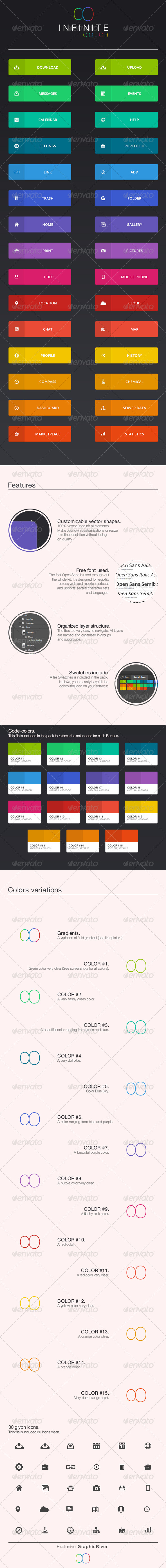 GraphicRiver Infinite Color Web Buttons 8250378