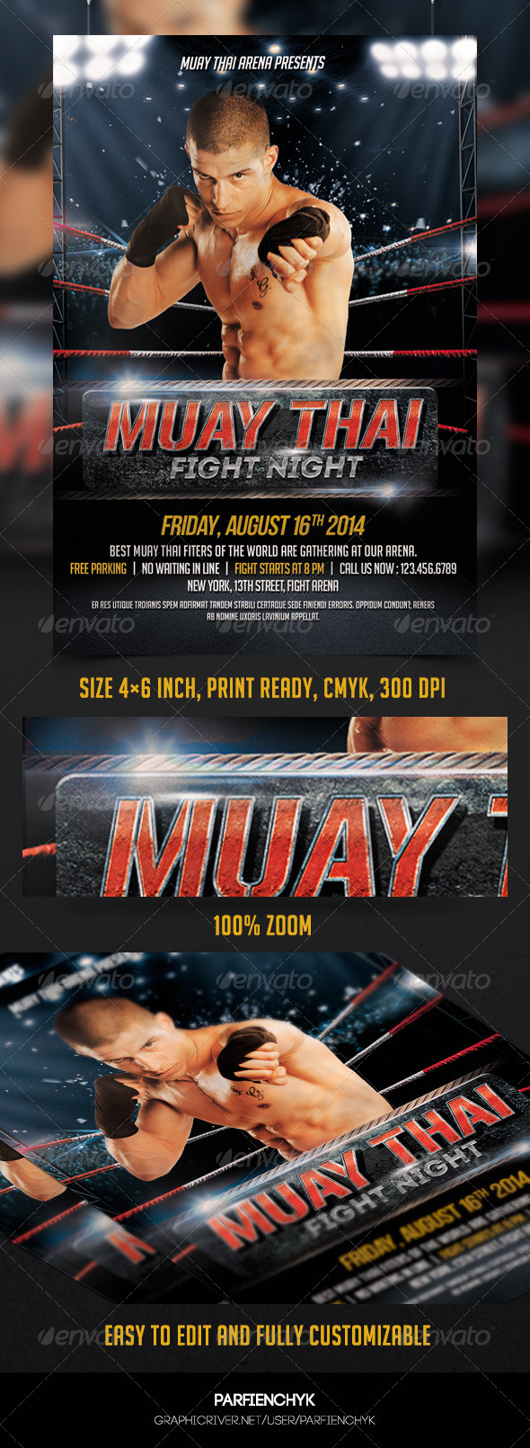 GraphicRiver Muay Thai Flyer Template 8250492