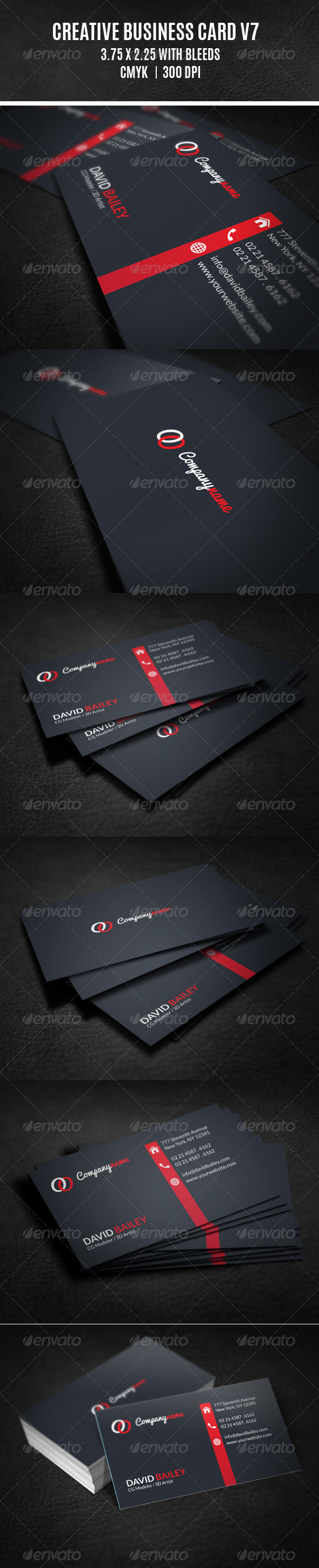 GraphicRiver Creative Business Card V7 8243178