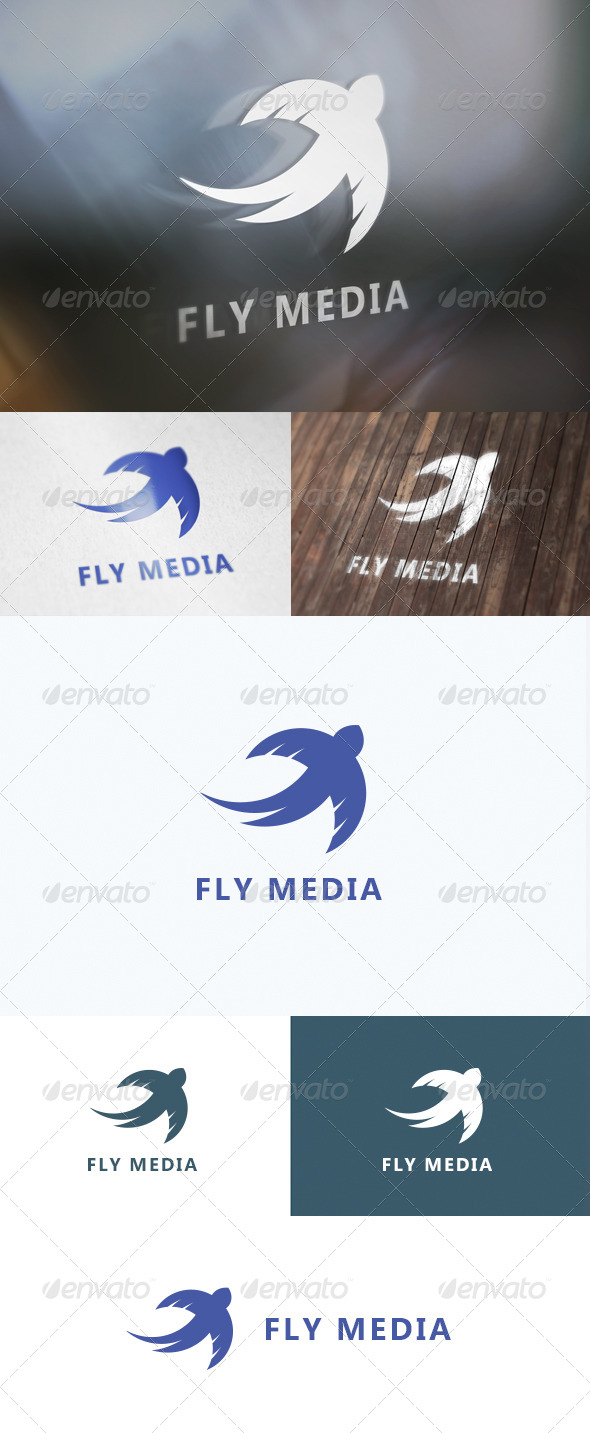 GraphicRiver Fly Media Logo 8250568