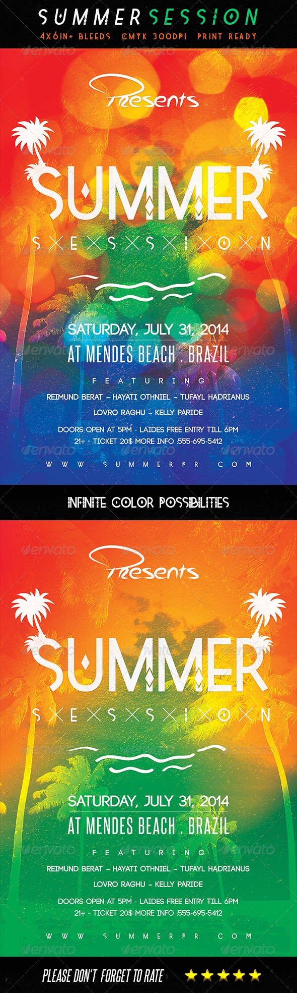 Summer Session Flyer Template