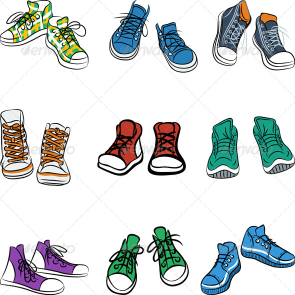 GraphicRiver Set of Sneakers 8250704