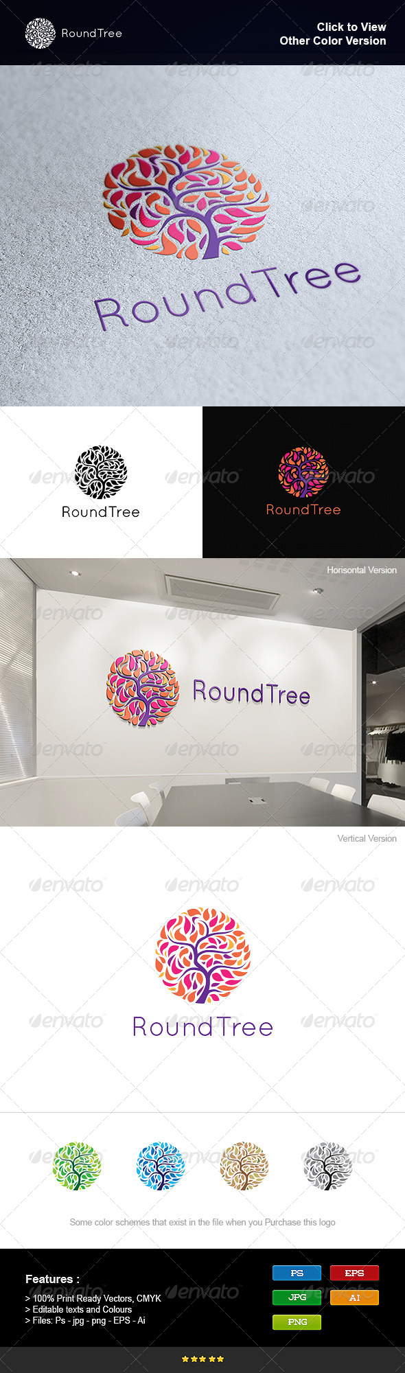 GraphicRiver Round Tree 8250966