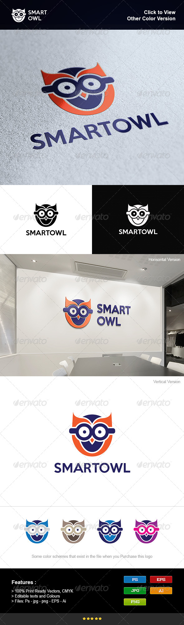 GraphicRiver Smart Owl School 8251009