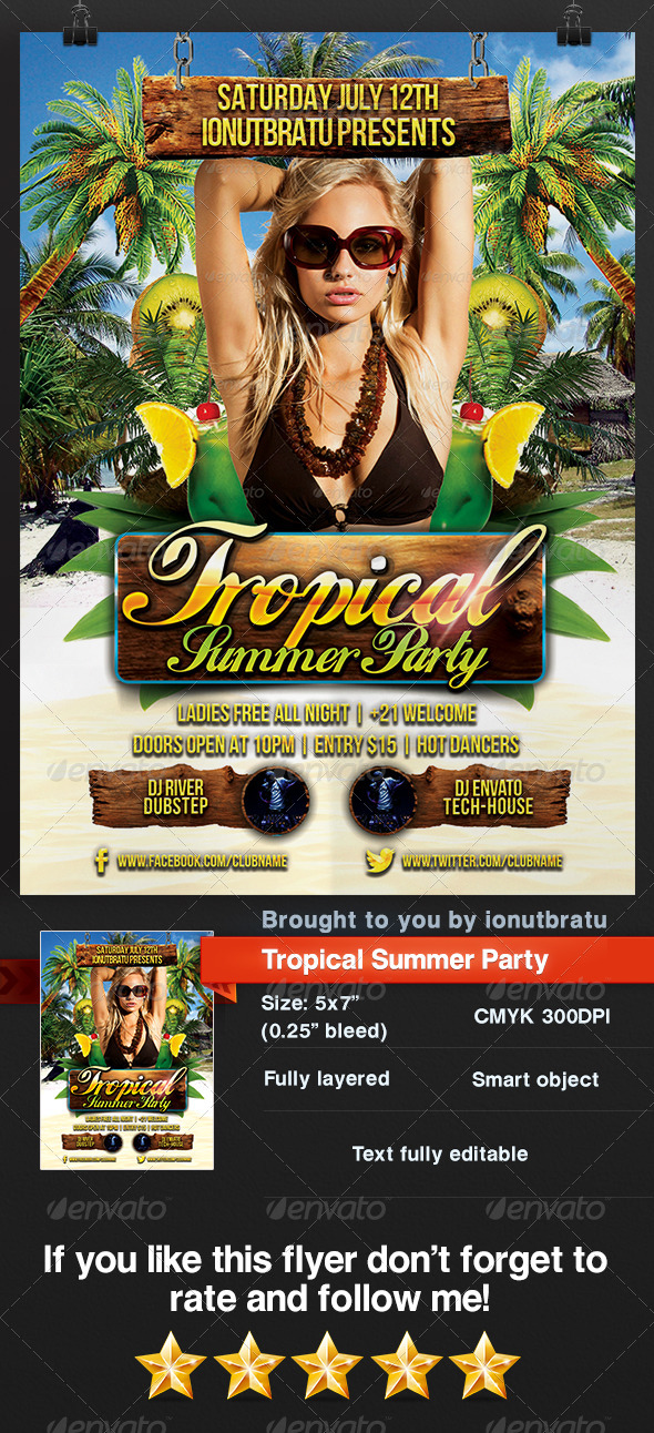 GraphicRiver Tropical Summer Party 8245847