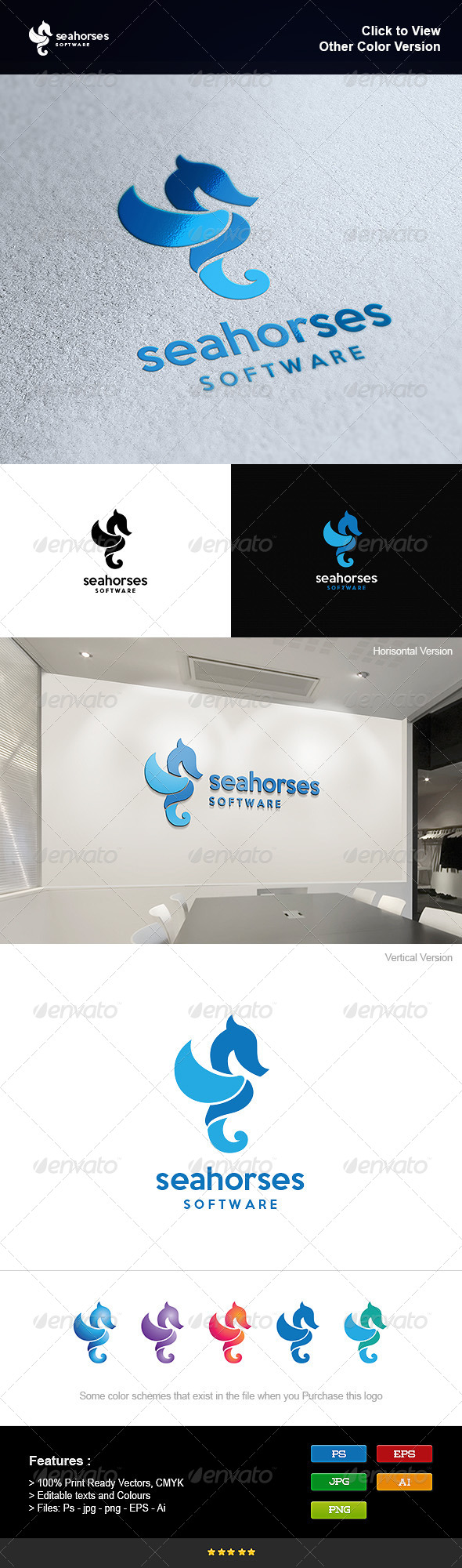 GraphicRiver Sea Horses Software 8251077