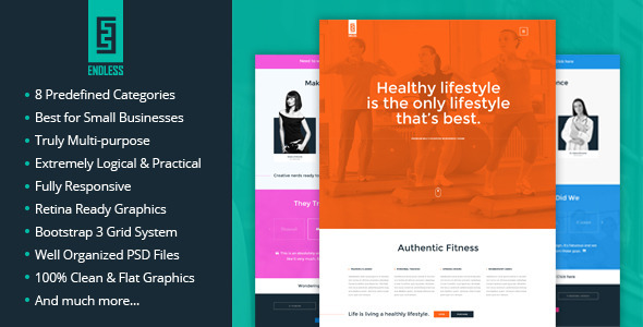 ThemeForest ENDLESS One Page Template 8251514