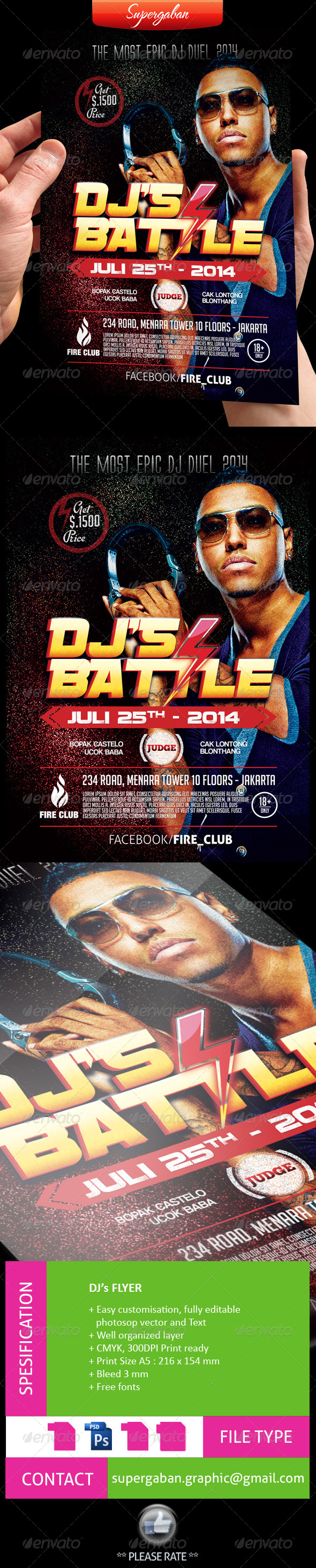 GraphicRiver DJ Battle Flyer 8247491