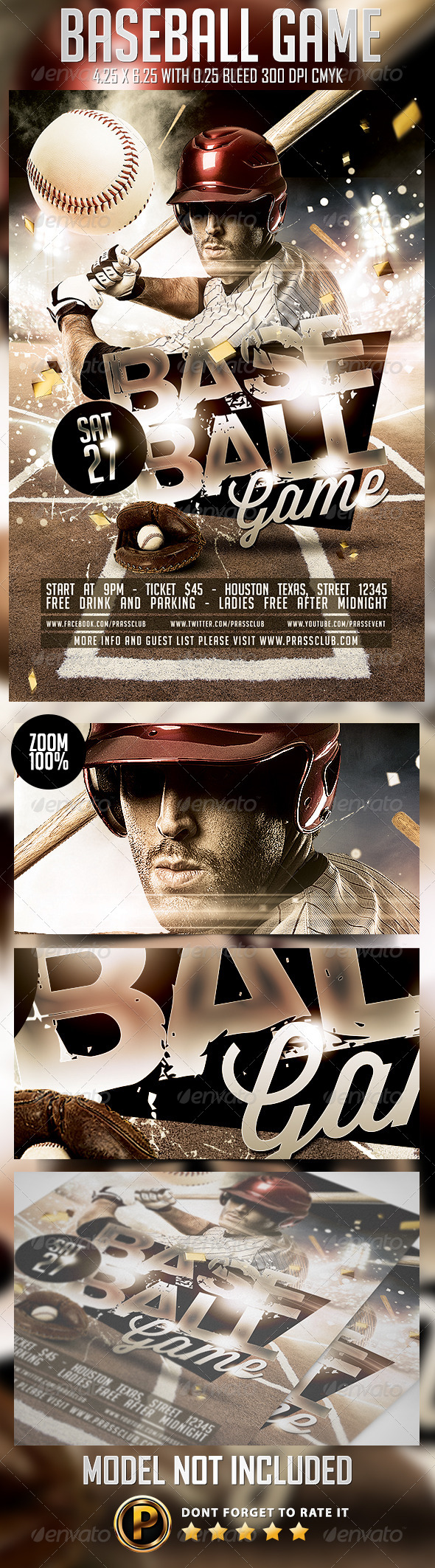 GraphicRiver Baseball Game Flyer Template 8251825