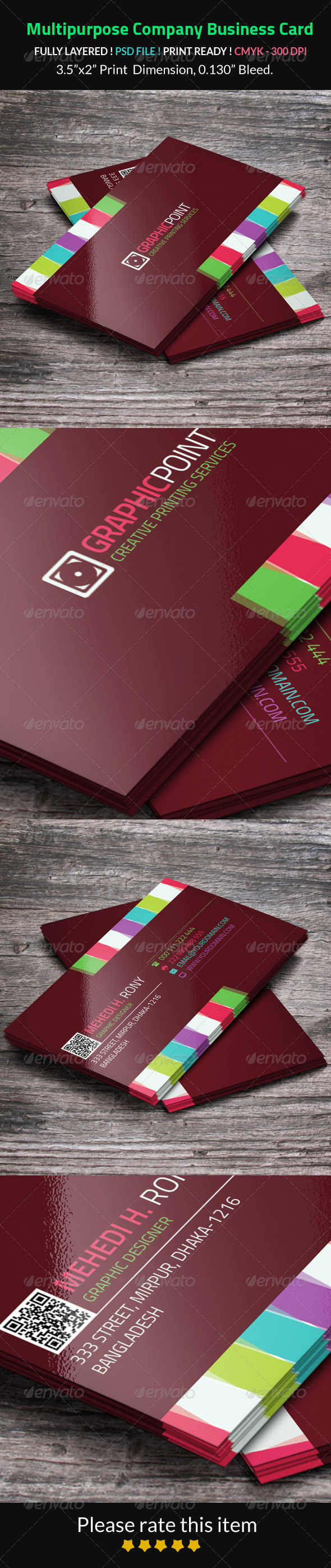 GraphicRiver Multipurpose Company Business Card 8251922