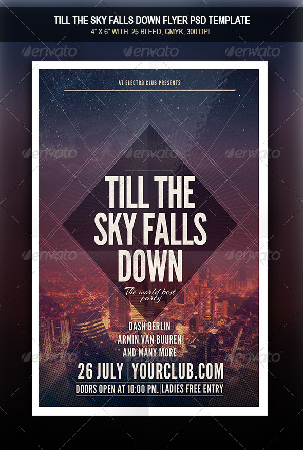 GraphicRiver Till The Sky Falls Down Flyer 8251970