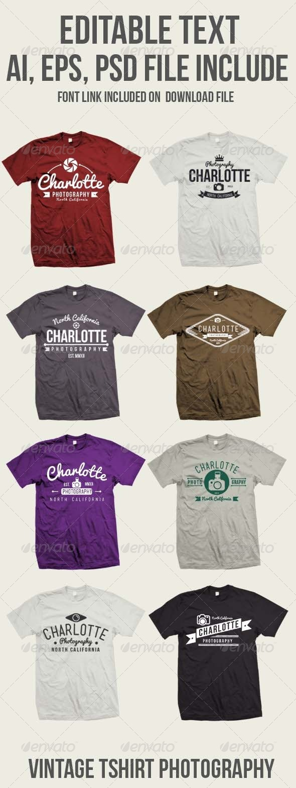GraphicRiver 8 Vintage Photography Tshirt 8242684